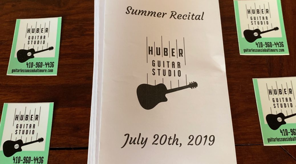 Huber Guitar Studio recital program