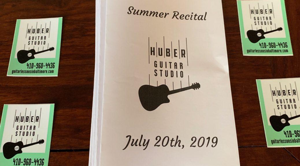 Huber Guitar Studio recital program