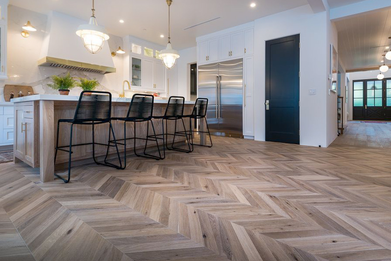 chevron floor