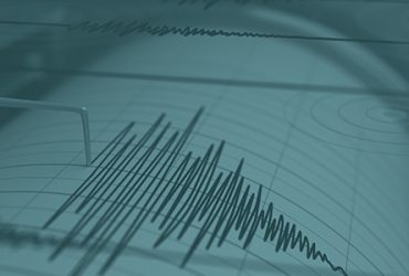 Graphic of earthquake being measured