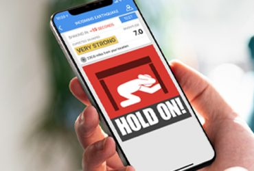 earthquake app in use