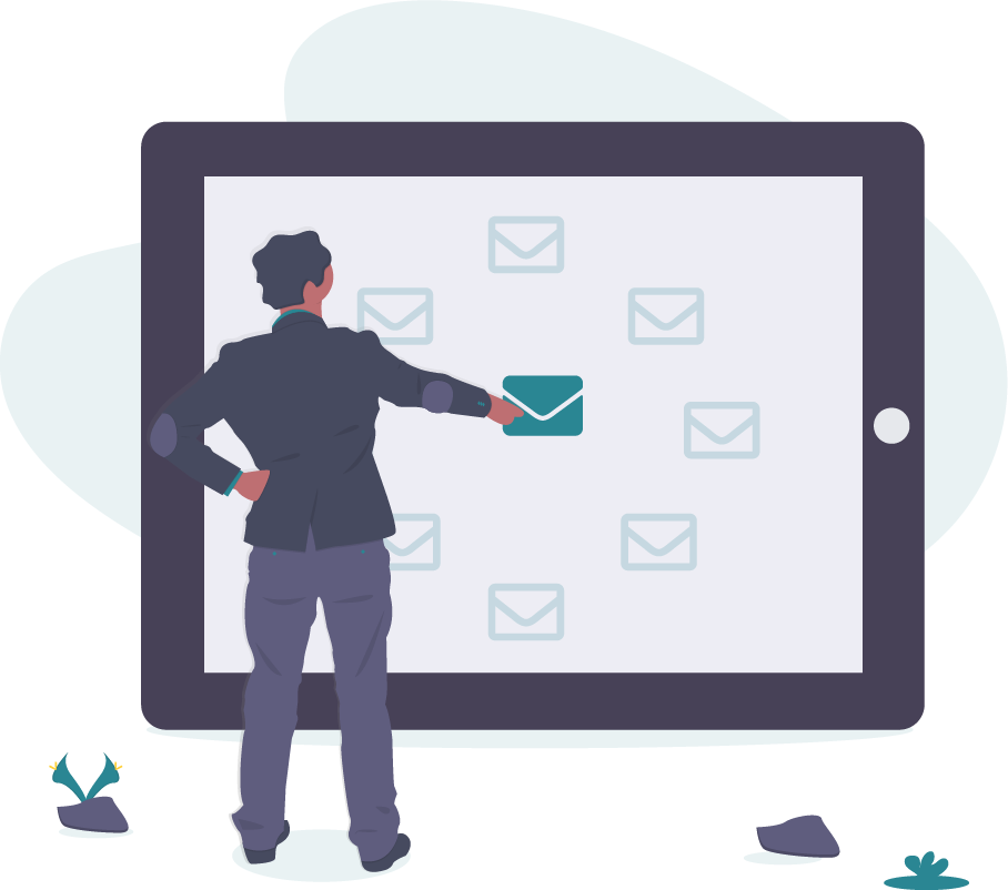 emails on tablet