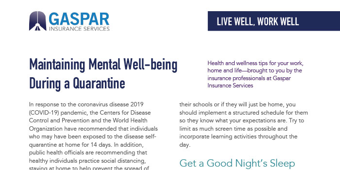 Maintaining Well-being preview