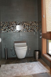 Warm seat with a bidet seat in the Toilet Area