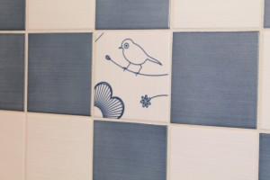 Close up of the bird tile