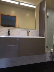 Master Vanity in Easy to Clean Glass
