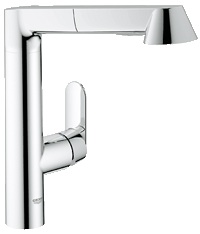 Faucet with nice wide flat candle that is comfortable in the hand.