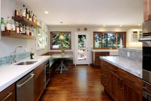 This kitchen was designed with traffic flow in mind