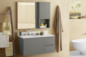 Available in several sizes and finishes that are easy to clean and maintain