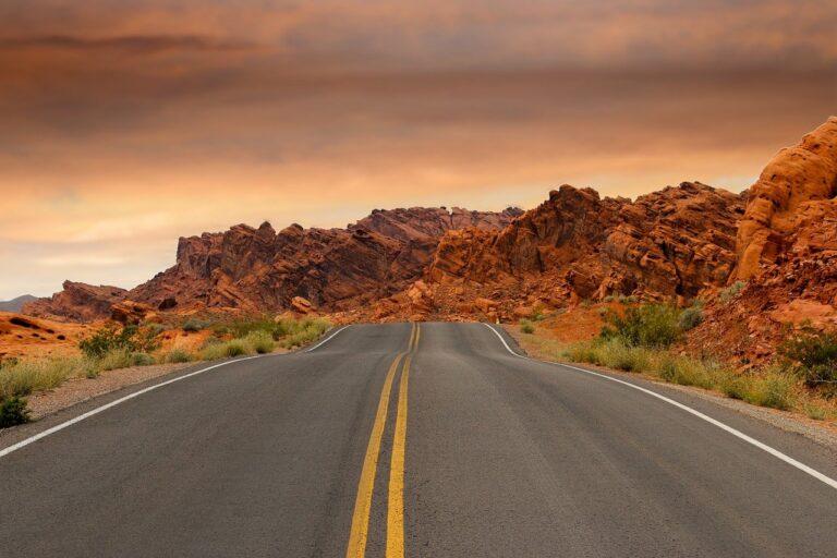 road, sandstone, sunset-1303617.jpg