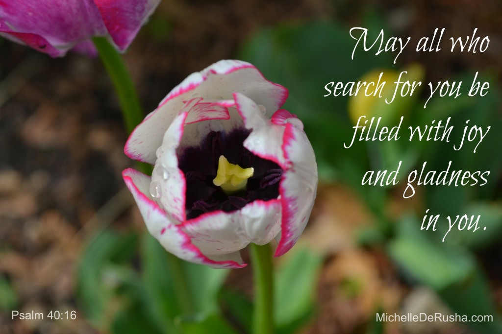 tulip with psalm