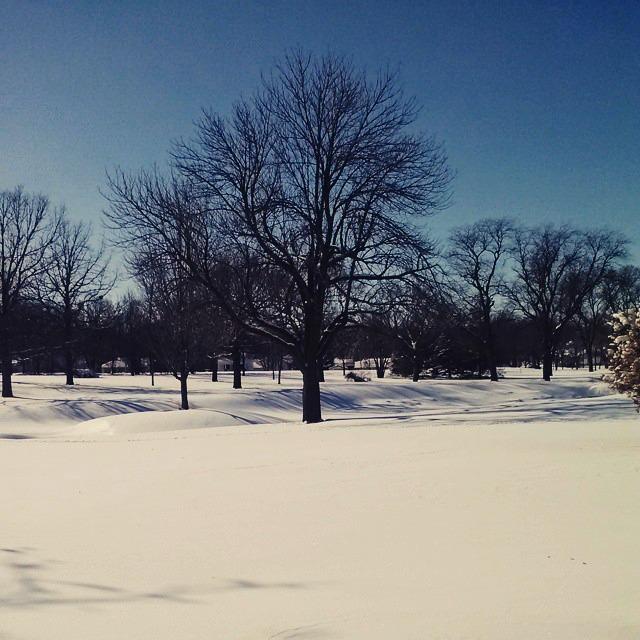 Memorial Drive snow