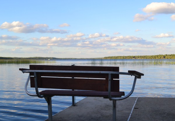 bench on dock