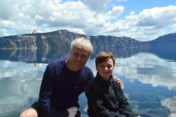Brad and Noah Crater Lake