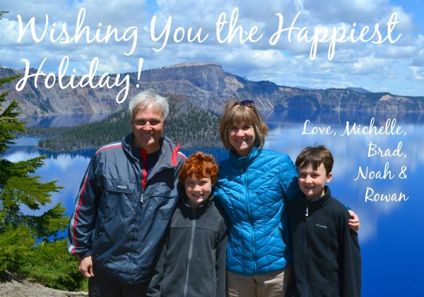 Family pic Crater Lake Christmas Card