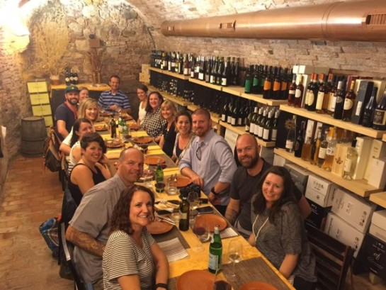 Tuscan grotto dinner