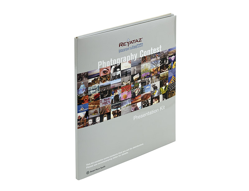 22pt Paperboard marketing Kit with thermo formed interior panel