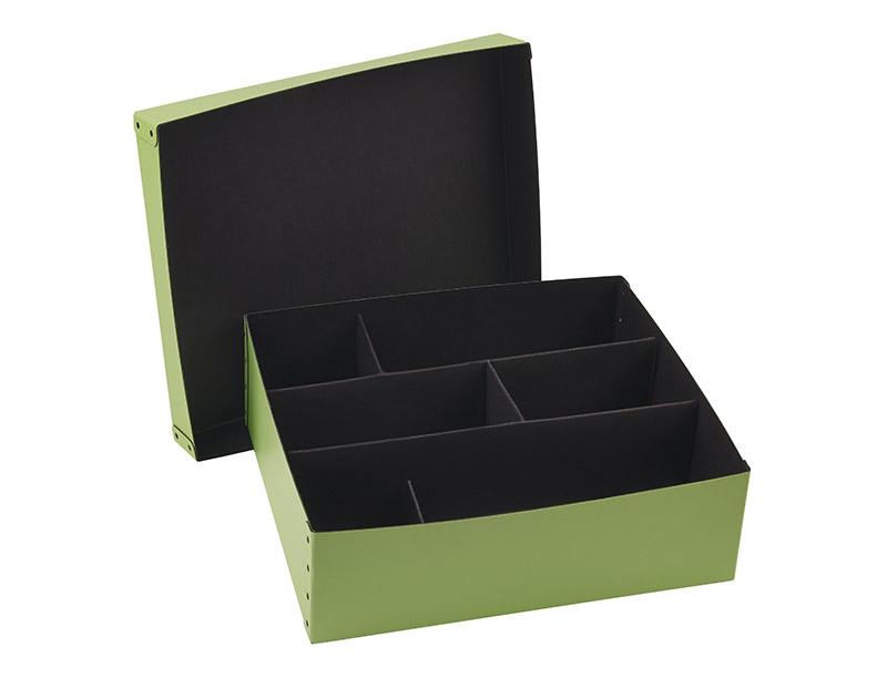 Fiberboard 2 piece box with divider