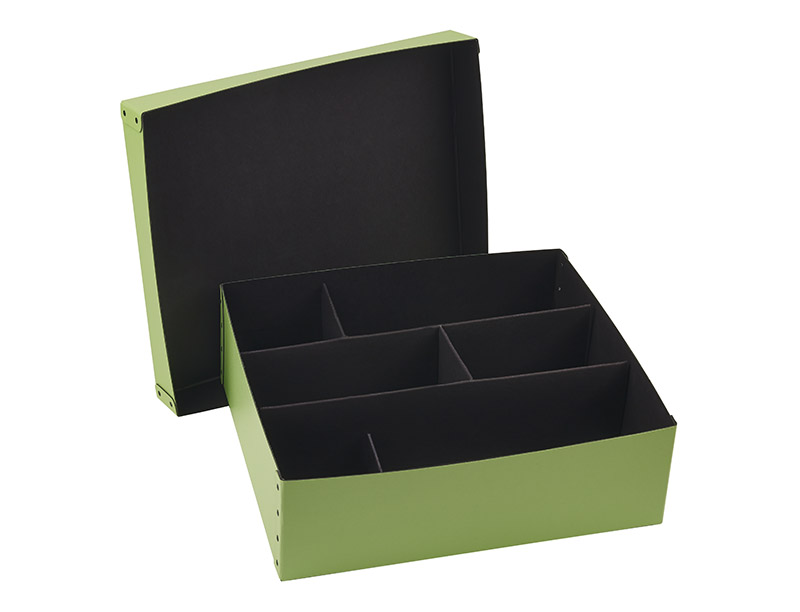 Fiberboard 2 piece box with divider