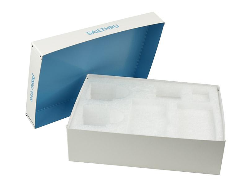 Fiberboard 2 piece box with foam insert