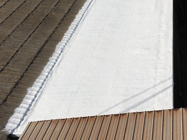 SPF roof coating