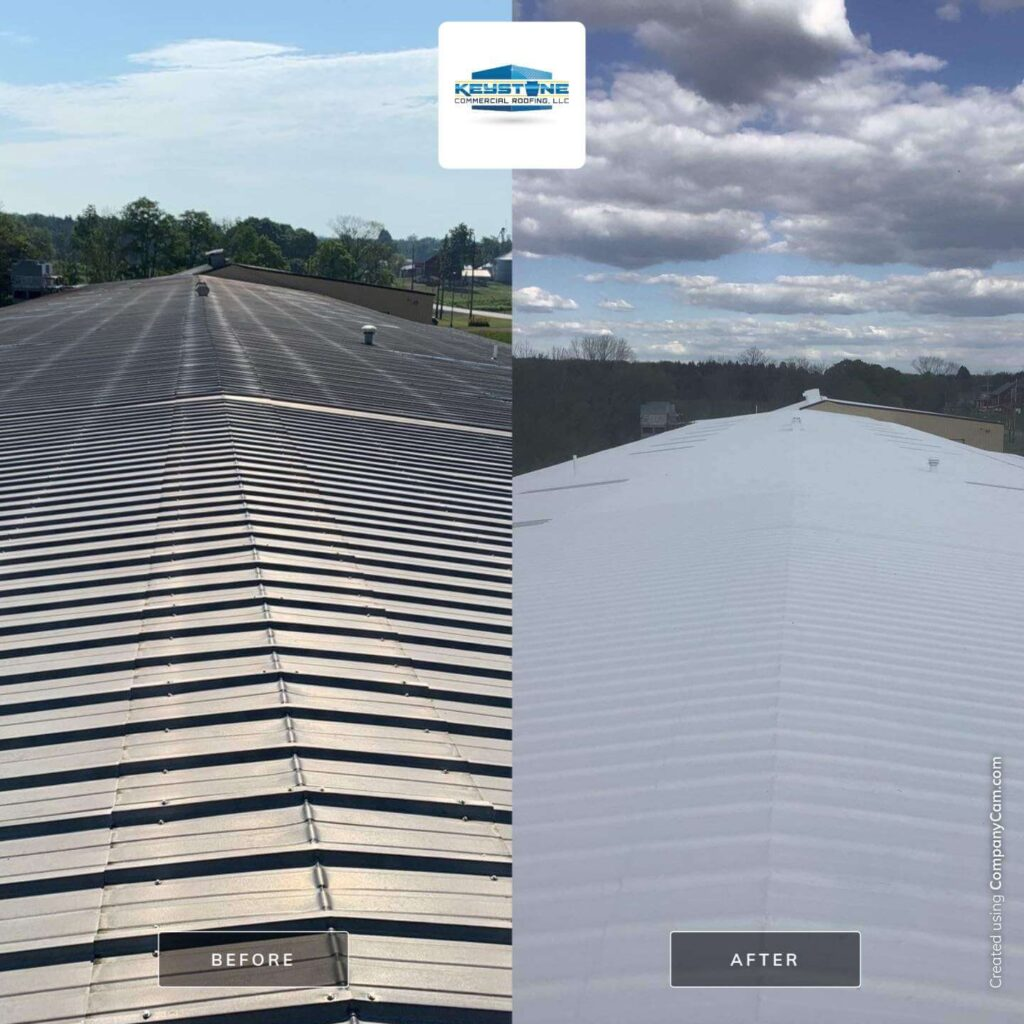 elastomeric roof before and after in Pennsylvania