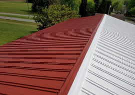 a commercial roof that was replaced recently