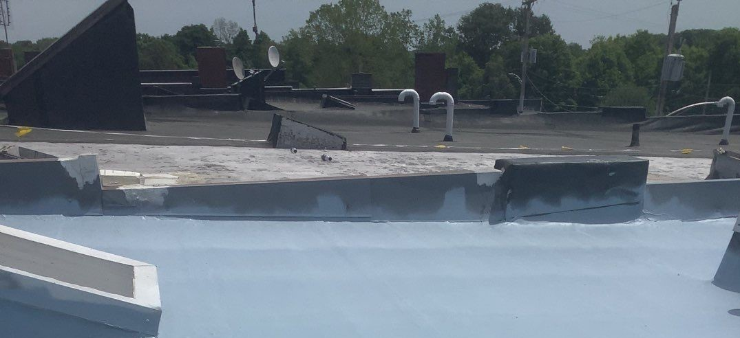 commercial cool roofing on flat roof