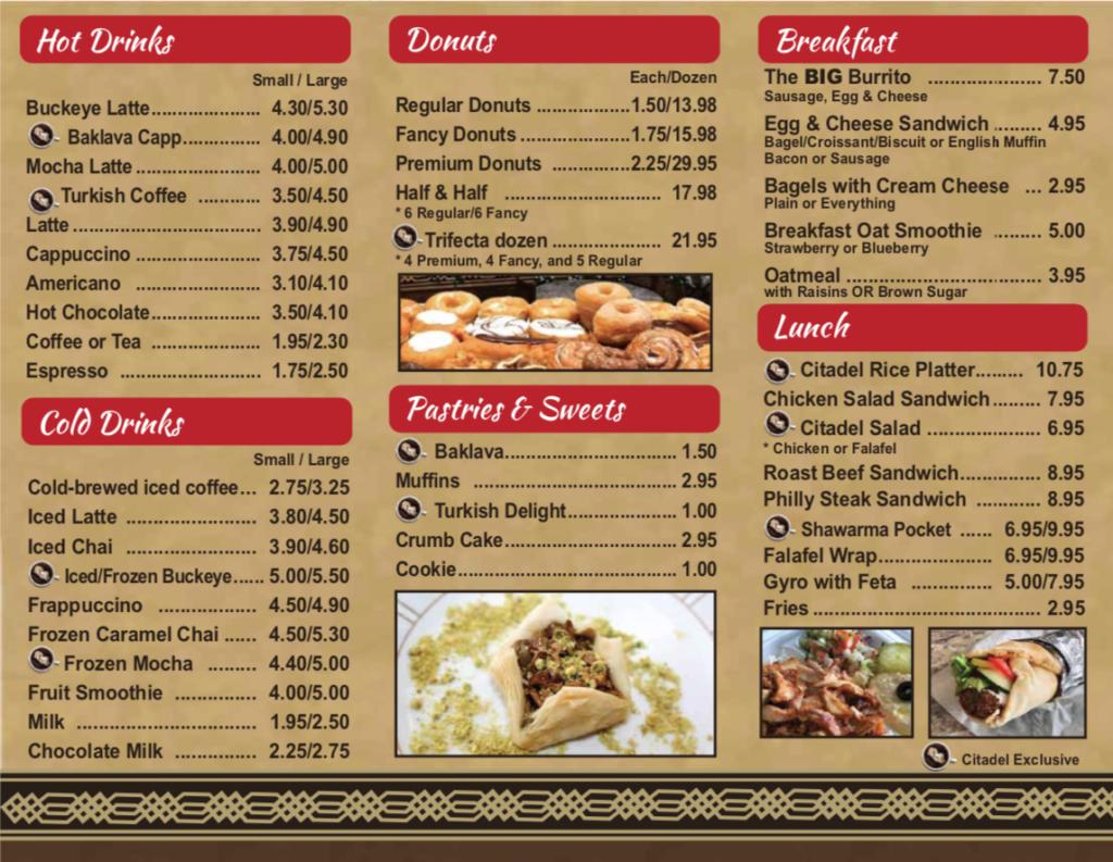 Citadel Cafe Hilliard Menu Page 2