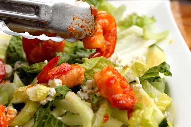 Add shrimp to any salad