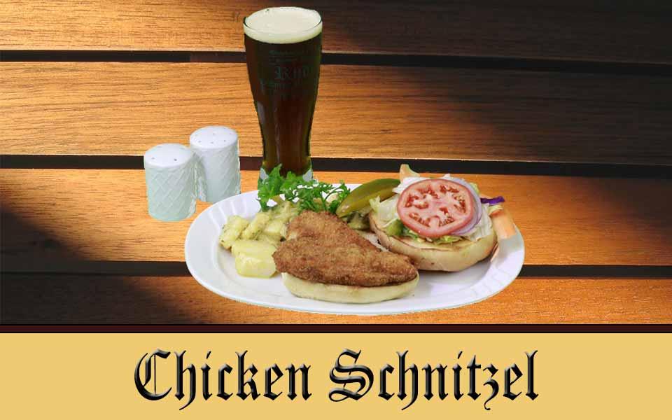 Chicken Schnitzel Sandwich with Austrian Pototes