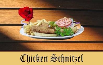 Chicken Schnitzel with Hunter Sauce