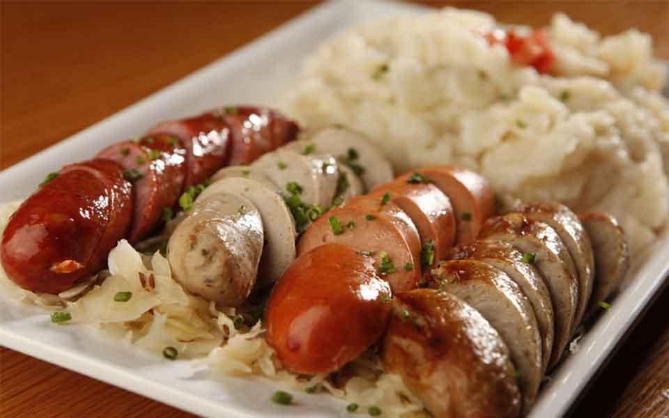 Combo Sampler - Cabbage Rolls, potato pancake,sausage,pork loin, brisket, mashed potato & sauerkraut