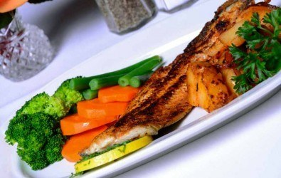 Grilled Idaho Trout with Austrian Potatoes and Vegetables