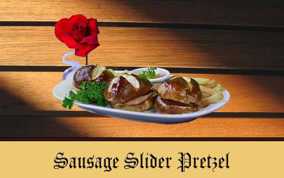 Sausage on a Slider Pretzel
