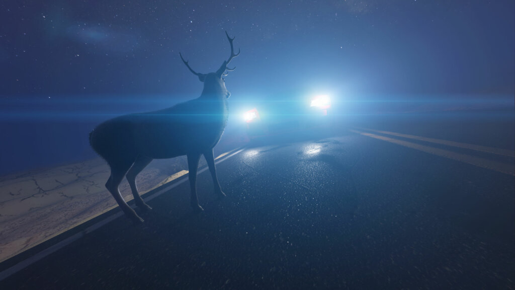 Deers are often spotted in the outskirts of Atlanta and can cause accidents - slow down at night and avoid driving on secondary roads when you can during the Holiday Season and especially do not speed.