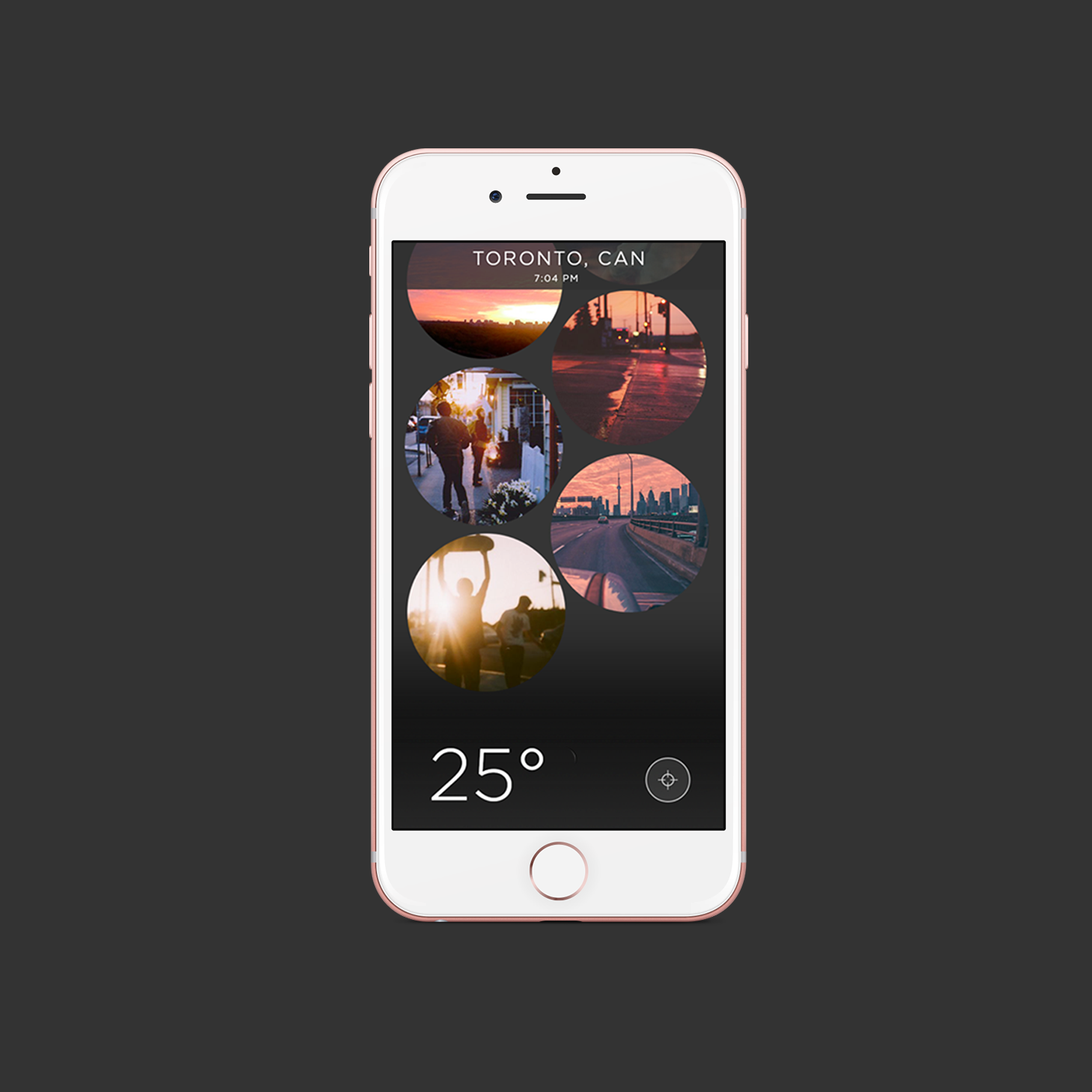 Glimpse Social Weather App