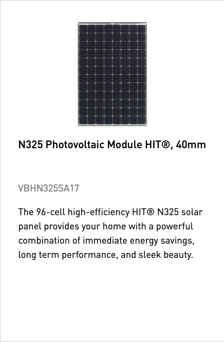 N325 Photovoltaic Module HIT, 40mm
