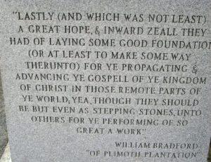 bradford quote on monument