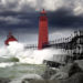 MI lighthouse storm