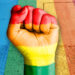 gay pride fist banner
