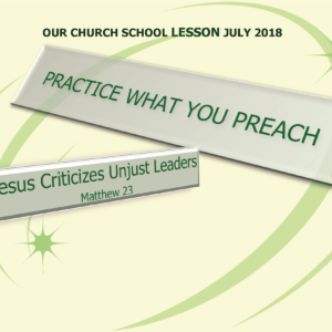 PAGE ONE Church School Lesson July 8 2018 (1)