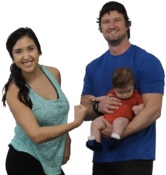Image of Jen, DJ, and Baby Cash