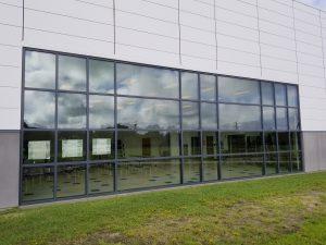 school-exterior-windows-before-3M Low-E-film-installation