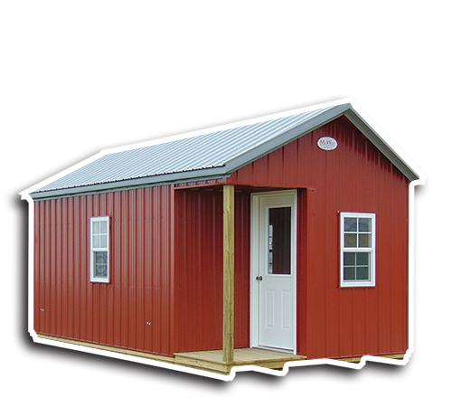 Deluxe Cabins - Metal Cabin With Corner Porch
