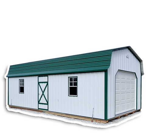 Gambrel Lofted Garages - Metal Storage Buildings