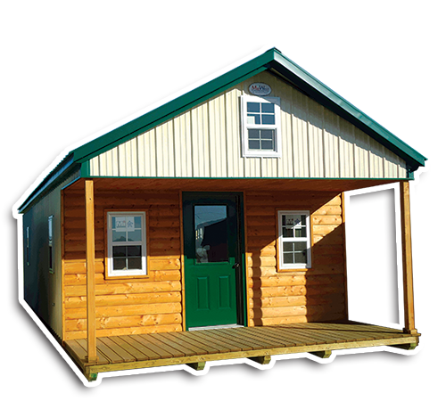 Deluxe Cabins - Log Front Siding