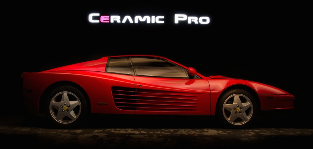 ceramic car coating red ferrari