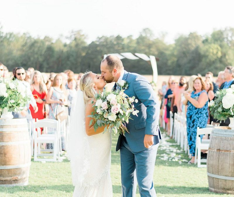 CLASSIC PINK AND BLUE RUSTIC WEDDING WITH ALL THE CHEER