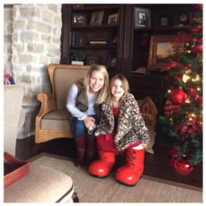 Ellie stole santa's shoes